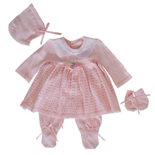Karela Kids Knitted Girl Set  Newborn