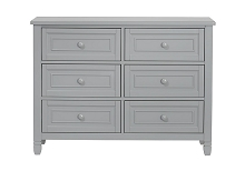 SuiteBebe Astoria 6 Drawer Dresser in Grey