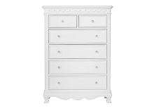 Baby Cache Adelina 6 Drawer Chest  in Pure White