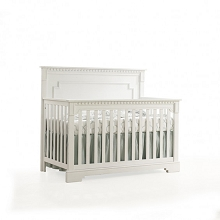 Natart Juvenile Ithaca 5-in-1 Convertible Crib with wood Panel
