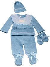 Karela Kids Knitted Set with Cap, Mittens and Blanket
