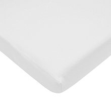 American Baby Supreme Jersey Bassinet Sheet White