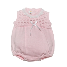 Karela Kids Knitted Girl Romper Pink