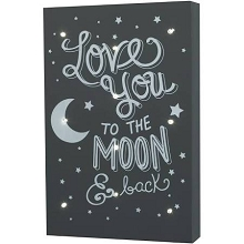 Crown Craft Love You to the Moon Light Up Wall Decor