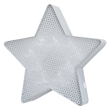 Crown Craft Star Light Up Wall Decor Grey