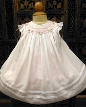 Willbeth Bishop Dress White-Pink