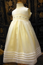 Willbeth Smocked Dress White-Yellow