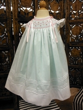 Willbeth Bishop Dress White-Mint