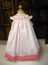 Willbeth Bishop Dress Polka Dot White-Pink
