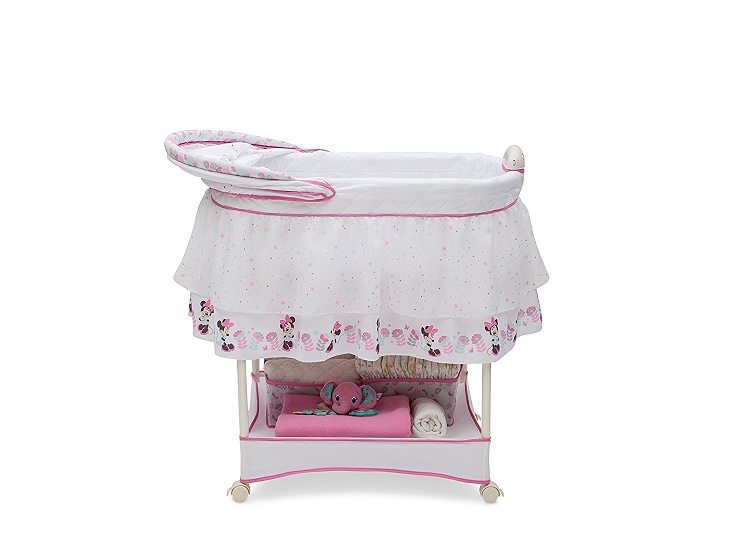 Brilliant Delta Children Disney Minnie Mouse Boutique Gliding Bassinet Pdpeps Interior Chair Design Pdpepsorg