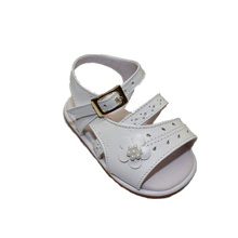 Karela Kids Leather Sandals Girl White