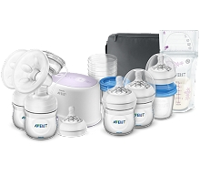 Avent Comfort Double Electric Breast Pump with Breastfeeding Accessories