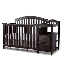 Sorelle Berkley 4-in-1 Crib & Changer in Espresso