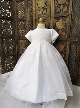 Willbeth Elegant Smocked Dress with Sleeves White