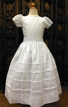 Will'beth Beaded Communion  Dress