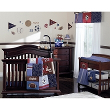 Crown Craft Nojo Play Ball Bedding Crib Set 9-Pieces