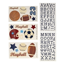Crown Craft Nojo Play Ball Wall Decals
