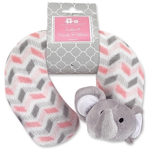 Baby King Cribmates Elephant Infant Neck Pillow Chevron Pink
