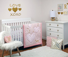 Crown Craft by Nojo She's So Lovely Bedding Crib Set 4-Pieces