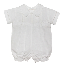 Karela Kids Pique Bubble Romper Boy, White