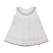 Karela Kids Linen Dress White