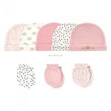 Hudson Baby Crown 8 Pieces Cap and Mittens 0-6 Months