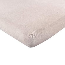Hudson Baby Fitted Crib Sheet, Heather Oatment