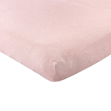 Hudson Baby Fitted Crib Sheet, Heather Pink