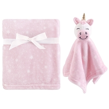 Hudson Baby Plush Blanket and Security Blanket, 2-Piece Set, Unicorn