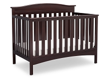 Delta Children Bakerton 4-in-1 Crib Convertible Dark Chocolate