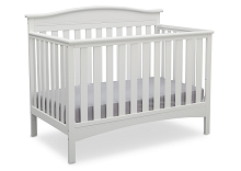 Delta Children Bakerton 4-in-1 Crib Convertible  Bianca White