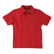 Universal 50% Off School Uniform Pique Polo Shirt Girl Red
