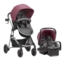 Evenflo Pivot Modular Travel System with SafeMax Dusty Rose