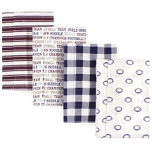Hudson Baby Flannel Burp Cloth 4 Pack, Football
