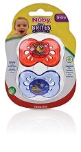 Luv n Care Nuby Brites Classic Pacifier BPA-Free 6-12 Months 2-Pack