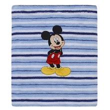 Crown Craft Nojo Disney Mickey Printed  Coral Fleece Blanket
