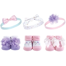 Hudson Baby Headband and Socks Gift Set- Magical Unicorn