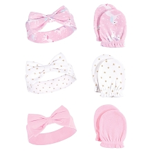 Hudson Baby Headband and Scratch Mittens Set 6-Pieces-Unicorn