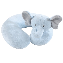 Hudson Baby Neck Pillow Boy Elephant