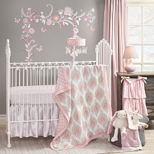 Lambs & Ivy Charlotte Bedding Crib Set 4-Pieces