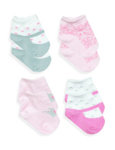 A.D.Sutton Baby Essentials Princess Socks Gift Box 4-Pieces Pink