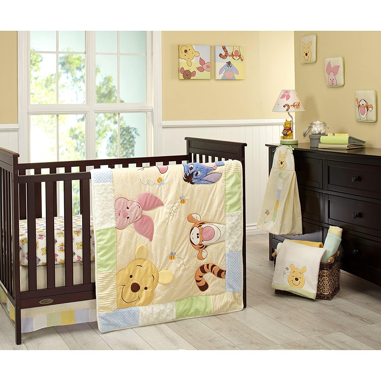 Crown Craft Peeking Pooh Bedding Crib Set 7 Pieces Ideal