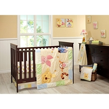 Crown Craft Peeking Pooh Bedding Crib Set 7 Pieces