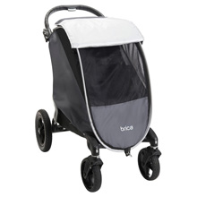 Brica Shield Stroller Comfort Canopy Grey