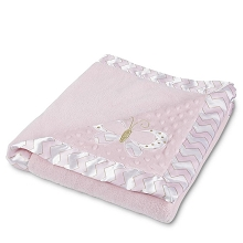 Tender Kisses Butterfly Plush BLanket