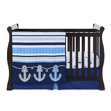 Tender Kisses Nautical Bedding Crib Set 3-Pieces