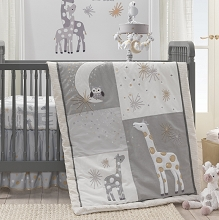 Lambs & Ivy Signature MoonBeam Bedding Crib Set 3-Pieces