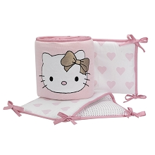 Lambs & Ivy Hello Kitty with Hearts Crib Bumper