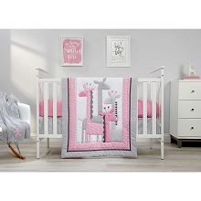 Little Love by NoJo® Giraffe Time 4 Piece Crib Bedding Set