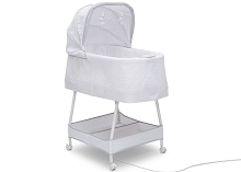 Simmons Kids Silent Auto Gliding Elite Bassinet Basketweave